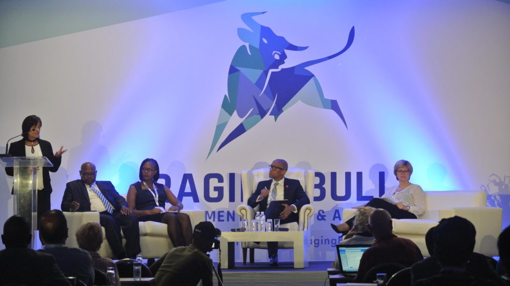Panel discussing the effects of current and future regulation on the investment industry at the Raging Bull Awards Summit 2018. (IOL).